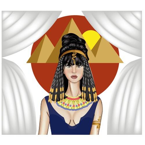 Cleopatra Illustration sex appeal
