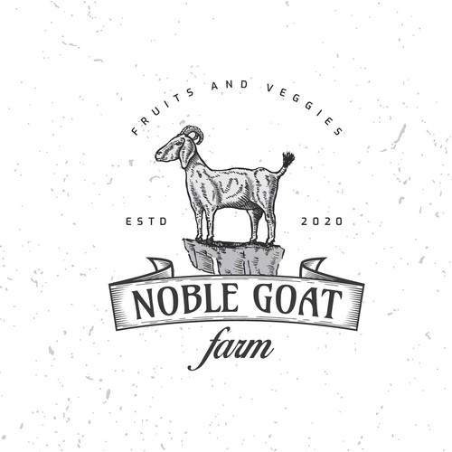 Hand drawn farm logo