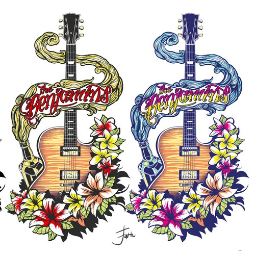 Guitar, Beer, Lillies