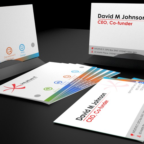 New business cards for Intuitive IT