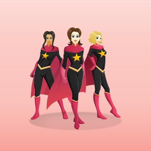 Super Heroine Design for Product Training Kit