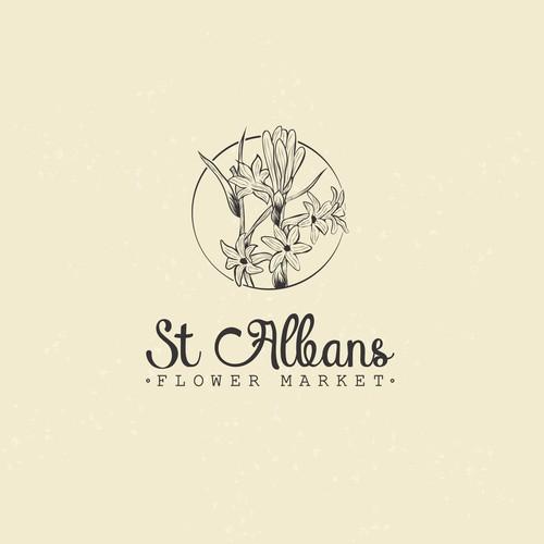 St Albans Flower Market Logo