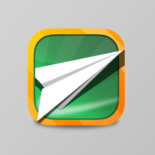 Create an eye catching game app icon for Paper Flyer Adventures