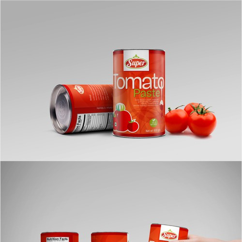 """We need a new label for our tomato paste """"SUPER"""""""