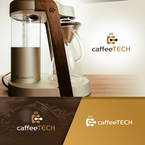 Modern Techy Logo for Caffee Tech
