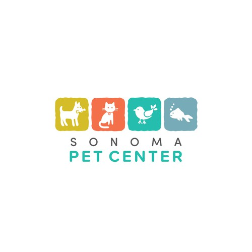 Clean and fresh logo for a local pet supply store