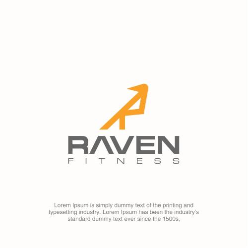 R as a Raven logo