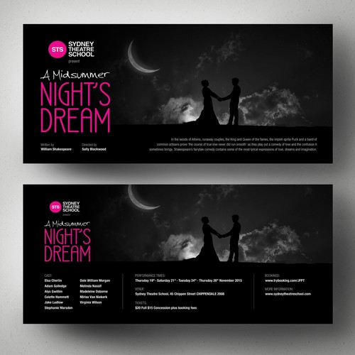 Create a flyer for A Midsummer Night's Dream