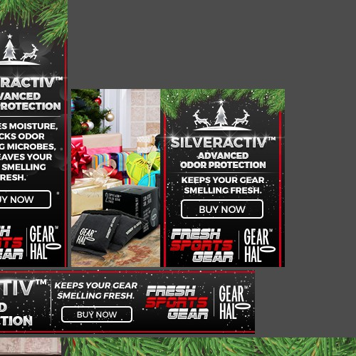 Christmas Banner Ads for Fresh Sports Gear