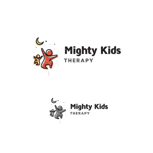 Logo concept for Mighty Kids therapy