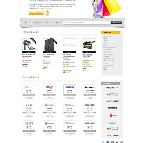 website design for Rebate Butler