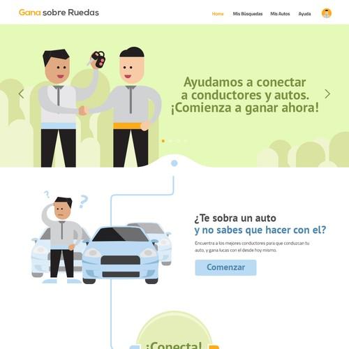 Gana sobre Ruedas Website Design