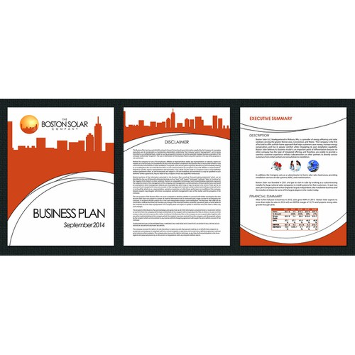 Graphical design of solar business plan
