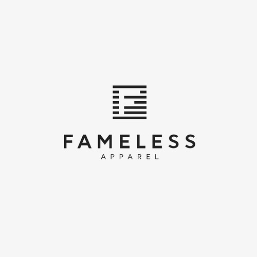 Logo design for FAMELESS APPAREL