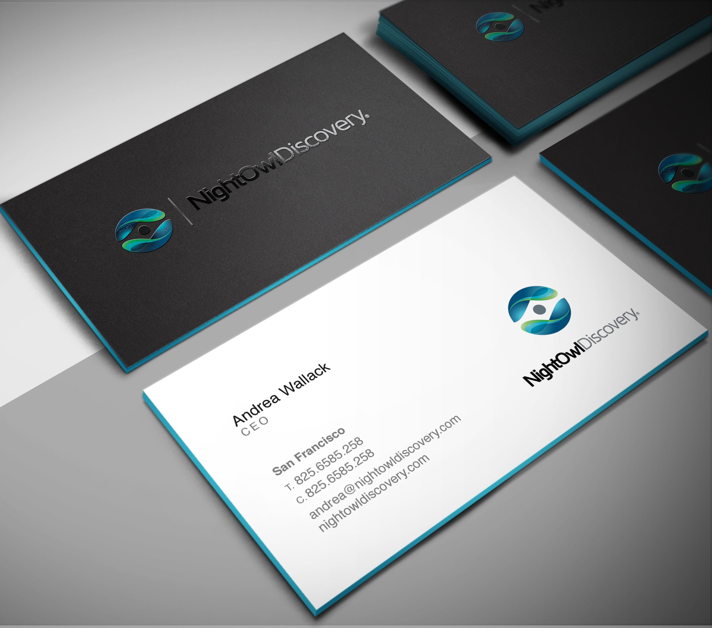 Design Business Cards for NightOwl Discovery