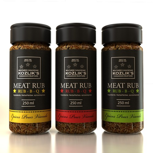 meat rub label packaging design