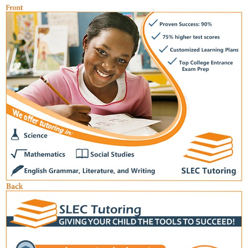 Post Cards for tutoring company