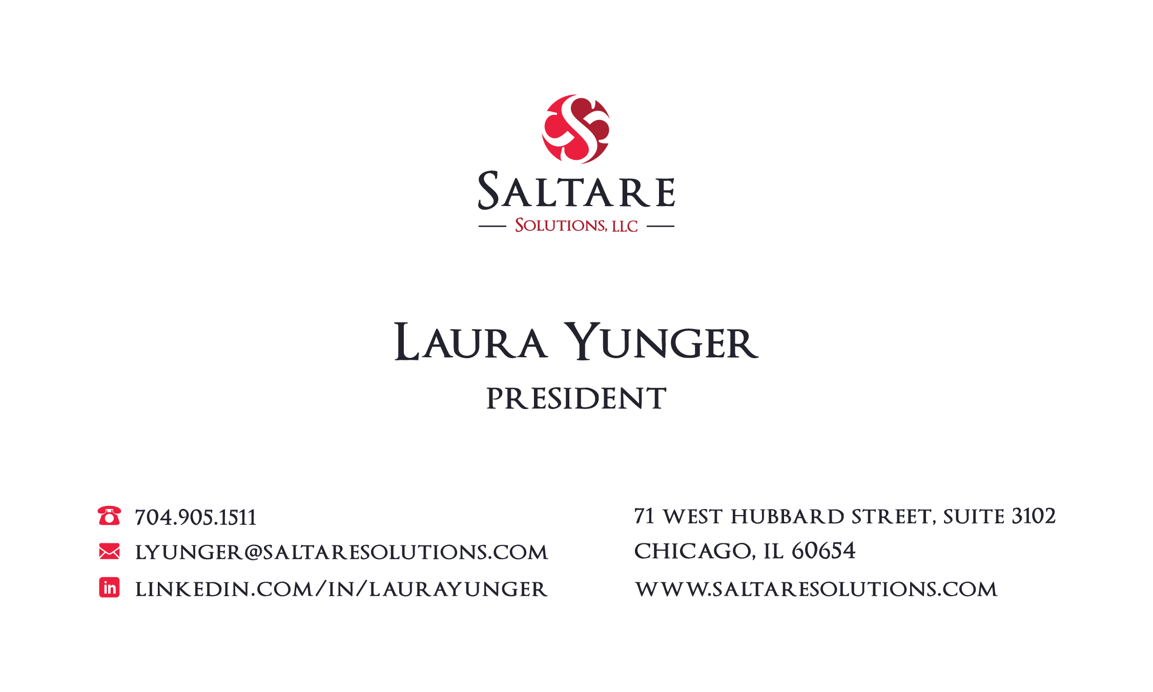 Saltare solutions business card