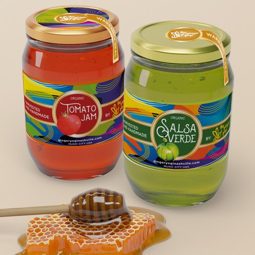 """Label for """"Salsa Verde"""" and """"Tomato Jam"""""""