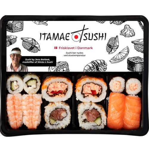 Package design for sushi