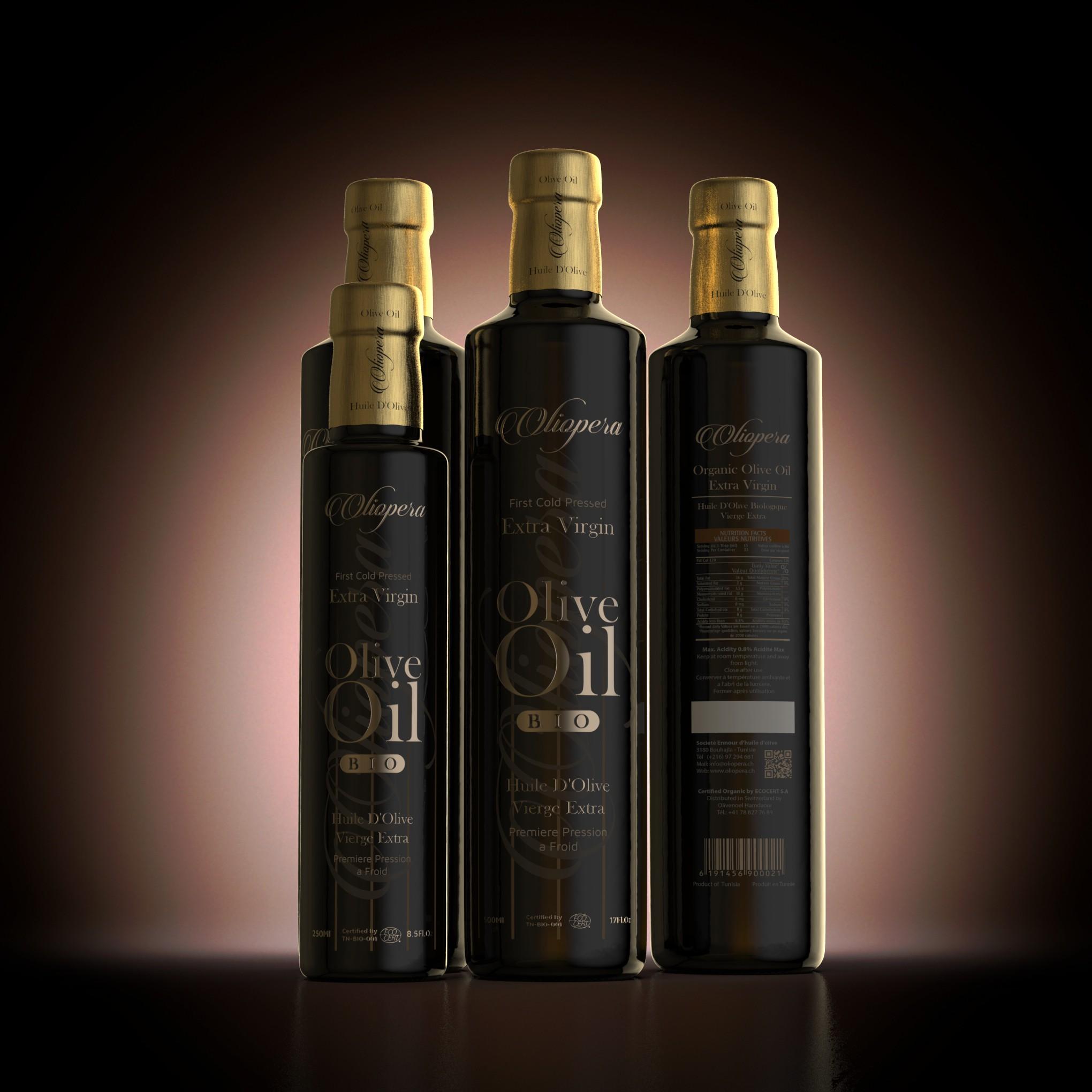 """Lebel for Olive Oil Bottle - Brand """"Oliopera"""""""