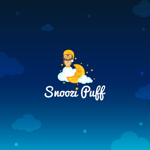 Cute, sleepy and calm logo for children pillows.
