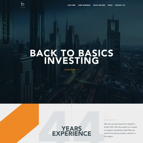 Modern design for an investment company