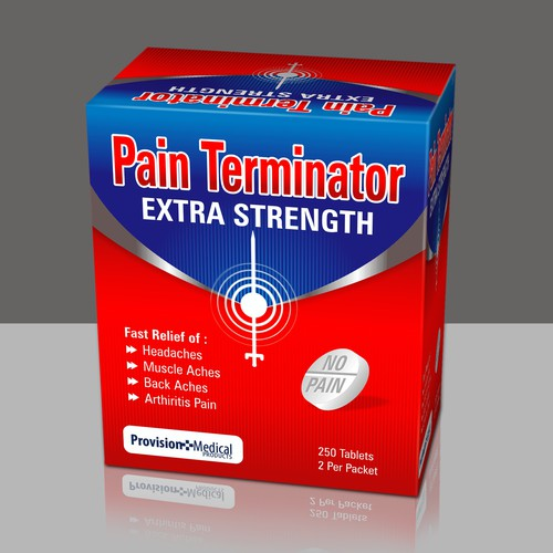Packaging Design for Pain Terminator