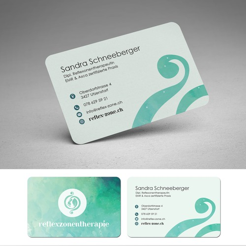 Visit Card & Psot-FLyercard for Reflexy-Therapie