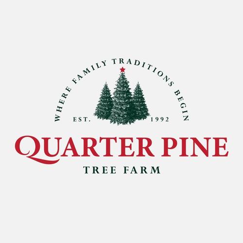 Logo for Quarter Pine Tree Farm