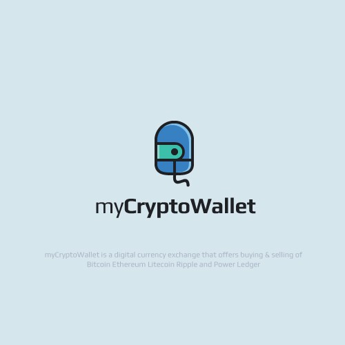 Bold Logo For Digital Crypto Currency
