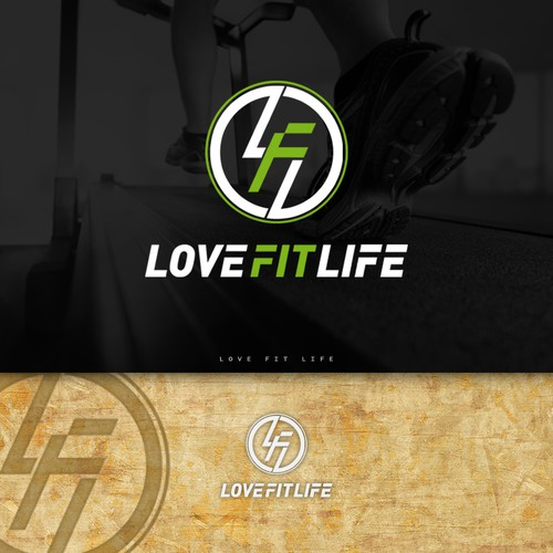 LOVE FIT LIVE logo design