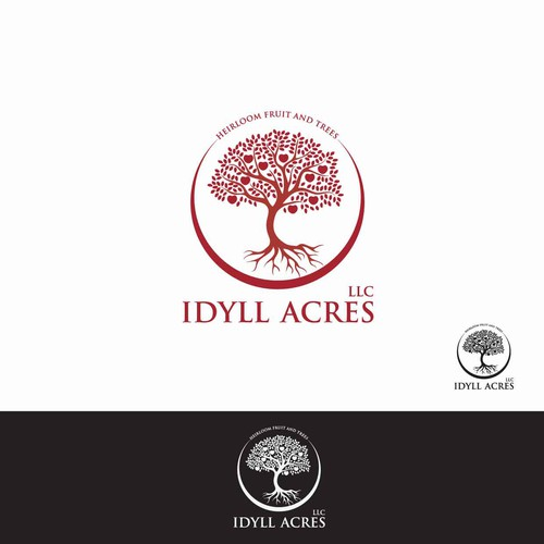 Create an elegant and sophisticated logo for an apple orchard