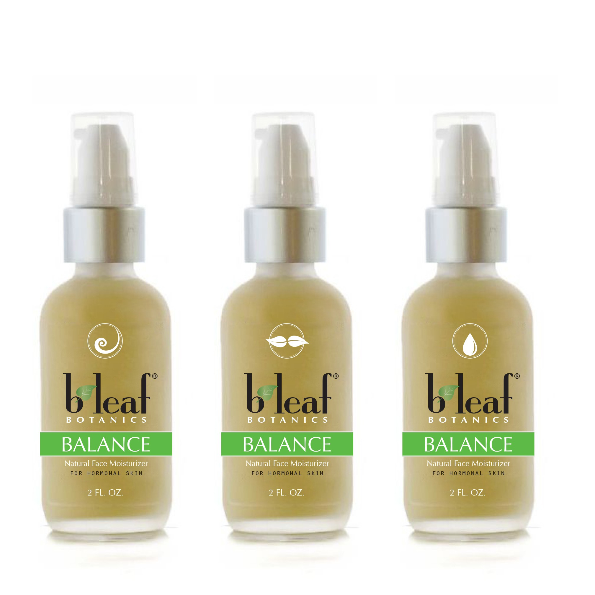 Create a fresh new label design for our B Leaf skin care products