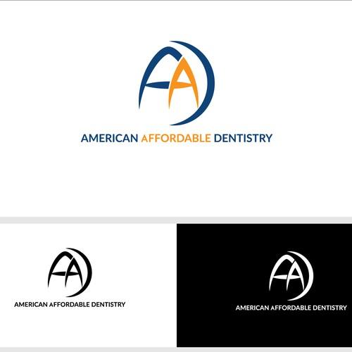 Dental logo concept for American Affordable Dentestry