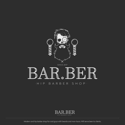 Illustrative logo for barber shop