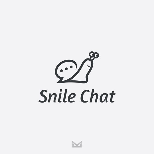 Snail Smile Chat Logo Design