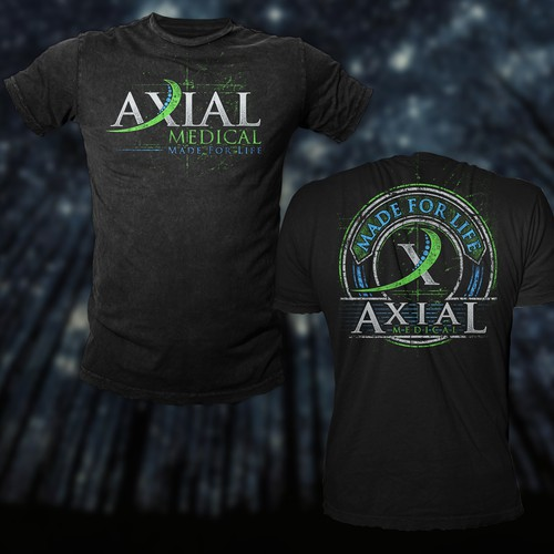 T Shirt Design For Axial Medical