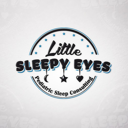 """Little Sleepy Eyes""  - You can already picture the perfect vintage style logo"