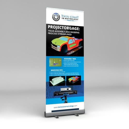 Roll-up banner for 3D Metrology
