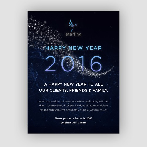 Happy New Year E-Mail Template