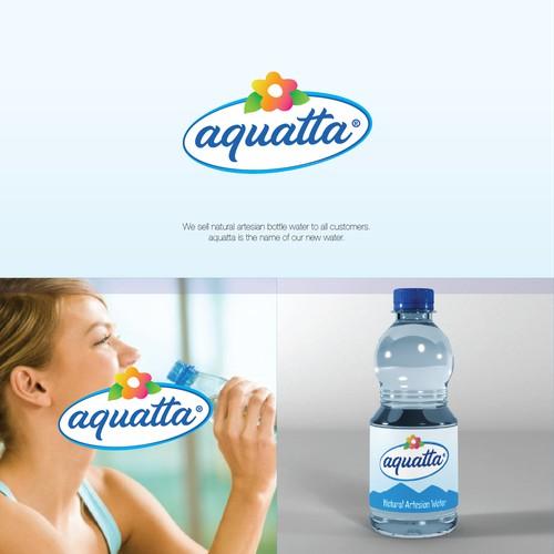 aquatta - a logo for a new water!