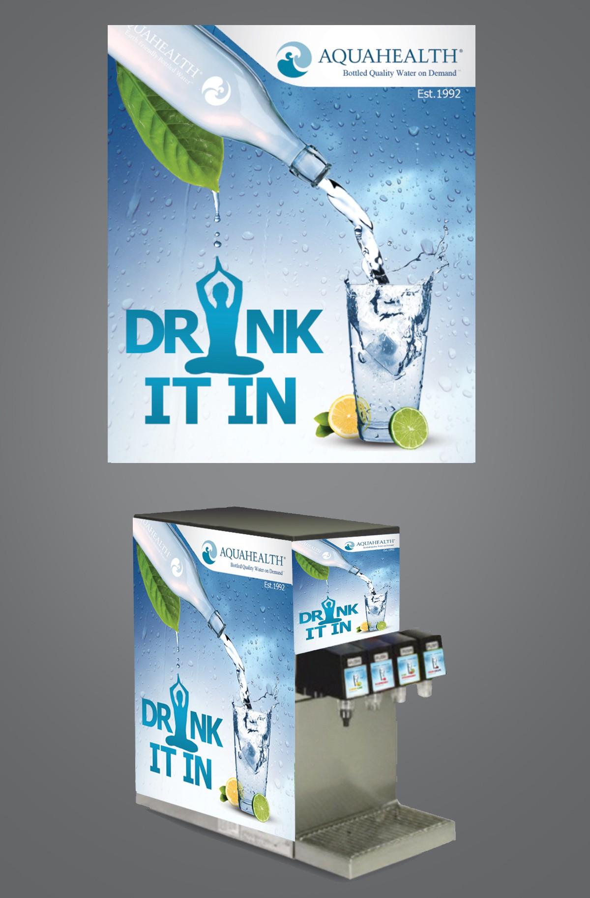 AquaHealth Dispenser Graphic Redesign
