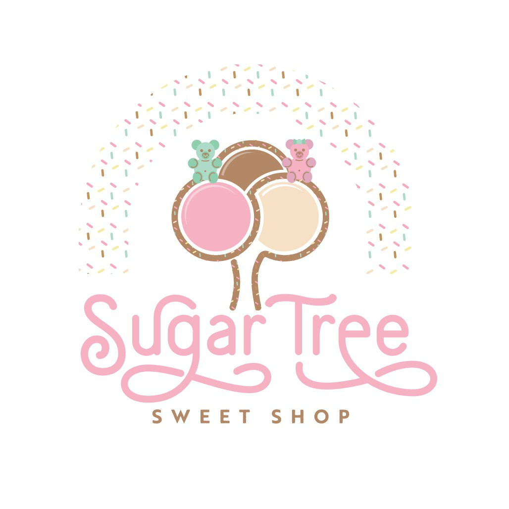 Fun but Classy Candy/Ice cream shop logo and website