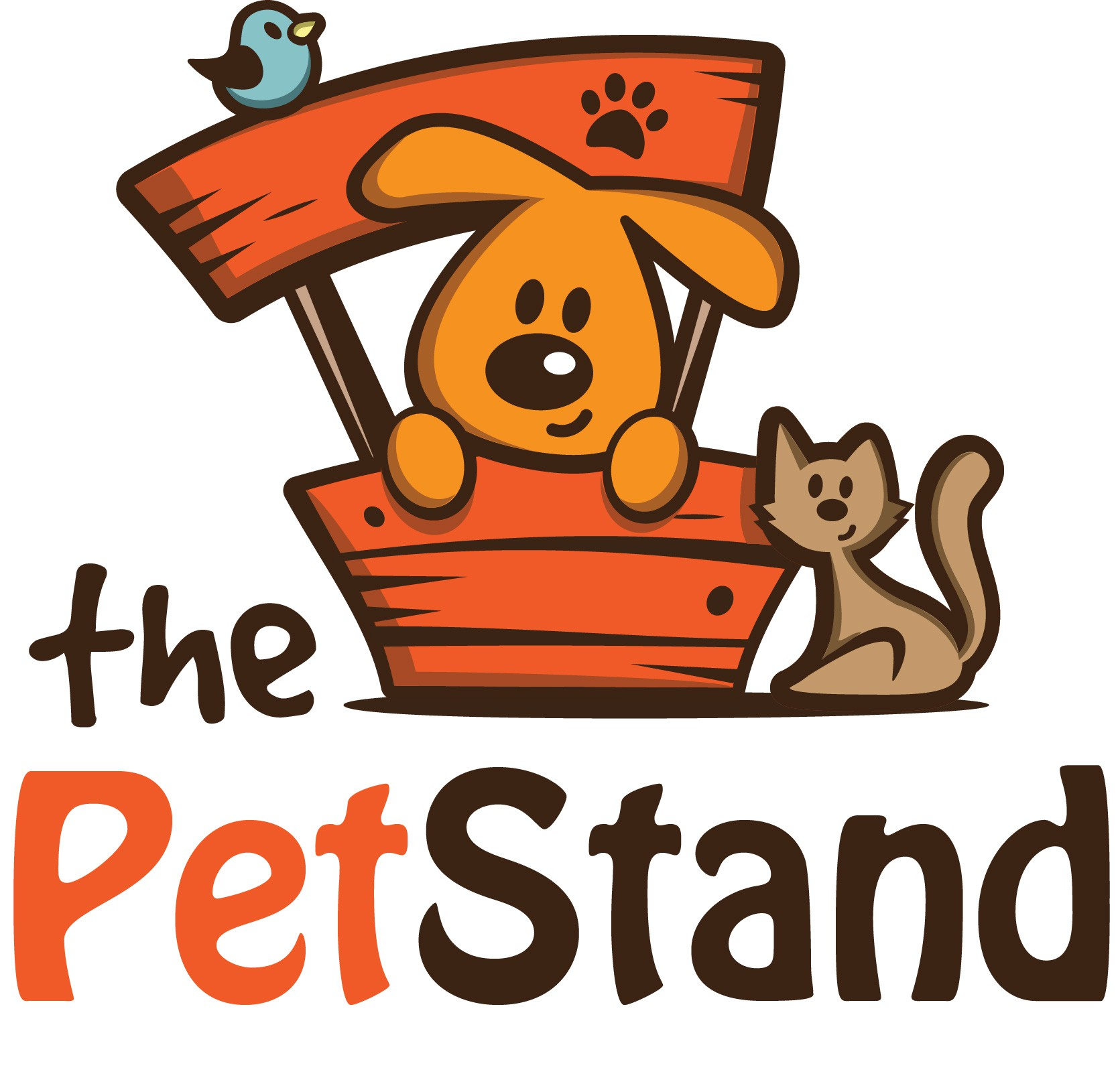 """""""Simple fun design logo for The Pet Stand"""""""