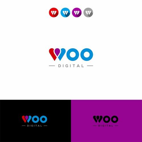 Design a Modern Flat Logo for Woo Digital