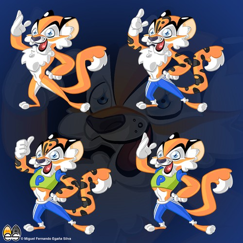 Mascot-Design healthy tiger