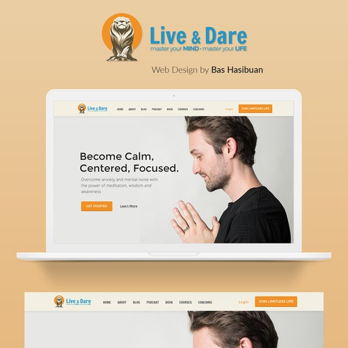 Live & Dare - Landing Page for Meditation Guru