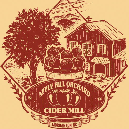 T-shirt design for Apple Hill Orchard