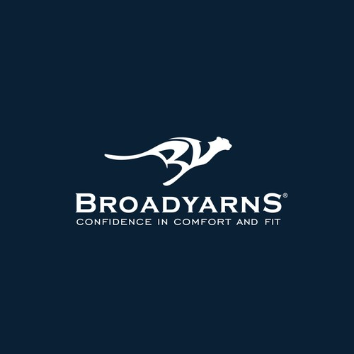 Logo for Broadyarns, the premium custom fit shirts for active men